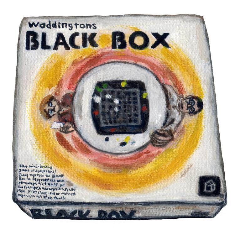 Waddingtons BLACK BOX Illustration Oil painting ワディントン ブラックボックス イラスト